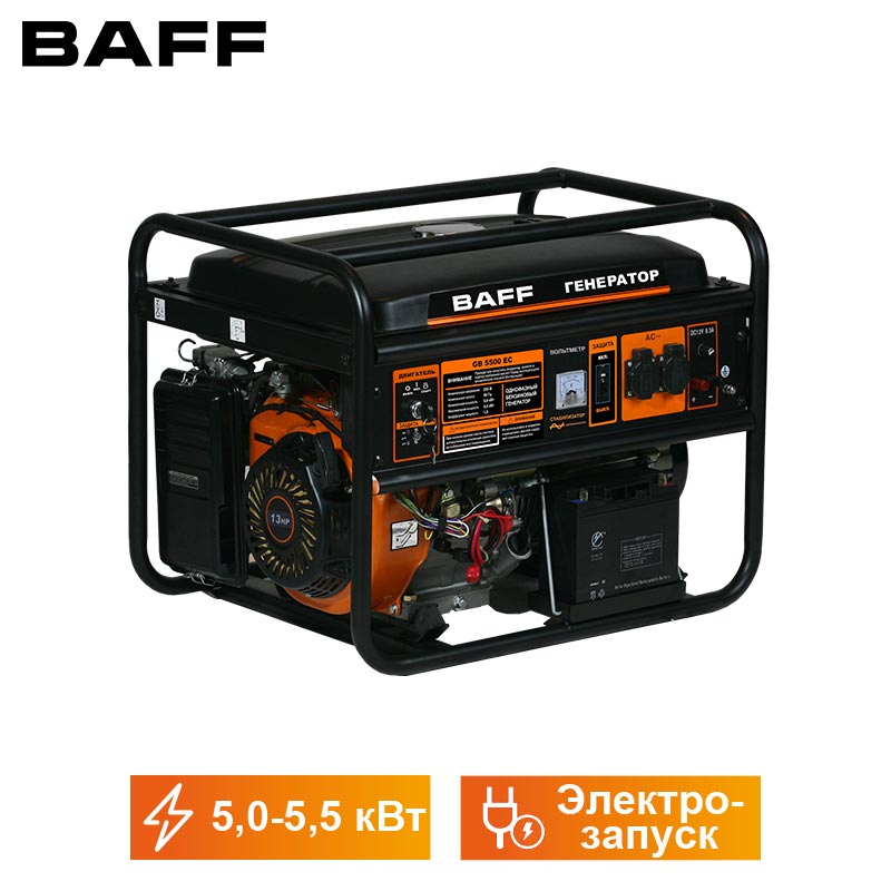 Gasoline Electric Generator GB 5500EC, ELECTRIC START, 5.5kWt, Continuous Operation Time 10 H, Engine Volume 389 Cc/cm