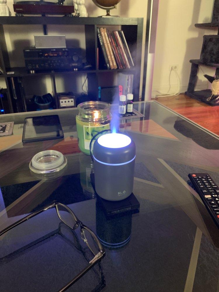 Difusor de Óleos Essenciais e Umidificador com 10 Filtros H2O Lumen photo review
