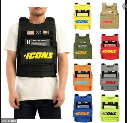 Vests Icon gilet Trending CS Vest Tactical military hiphop rapper FASHION VEST Outerwear Men's Fashion Tactica ICONS jacket vest 2