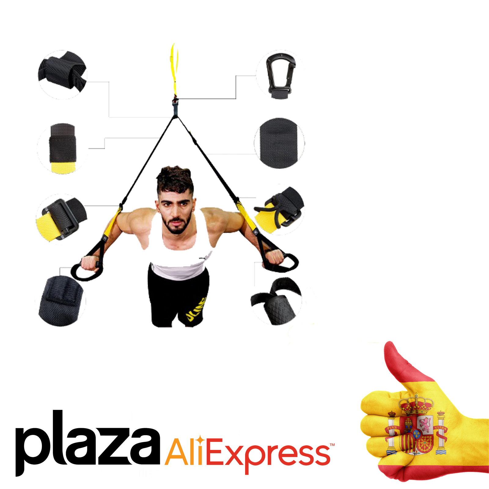 Bands's Strength Belt Sport Gym Fitness Suspension Exercise Rope Straps For Workout CROSSFIT