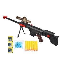 Conjunto de espingarda com balas, hidrogel, balas macias, plástico, polímero, para meninos
