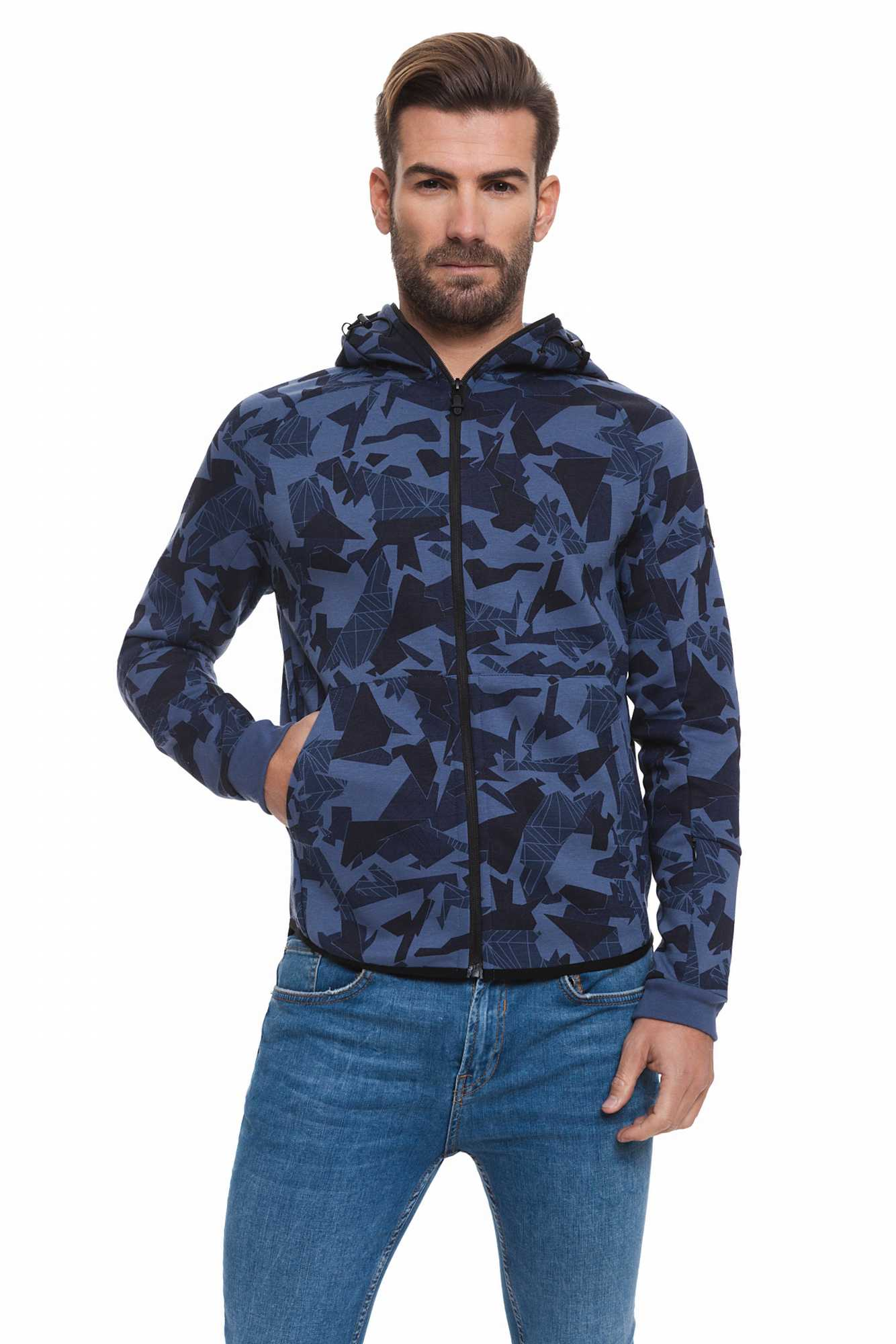 Born богатый балателли свитер для мужчин темно синий спортивный BR2E111087AA2BRC 2