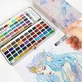 72 Вт/90 Цвета Твердые акварельные краски в наборе основных неоновый блеск для татуажа, пигмент для мануального татуажа художников начинающи...