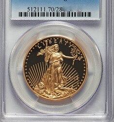 Золотая монета 2012 eagle .999, 1 унция, класс PF70
