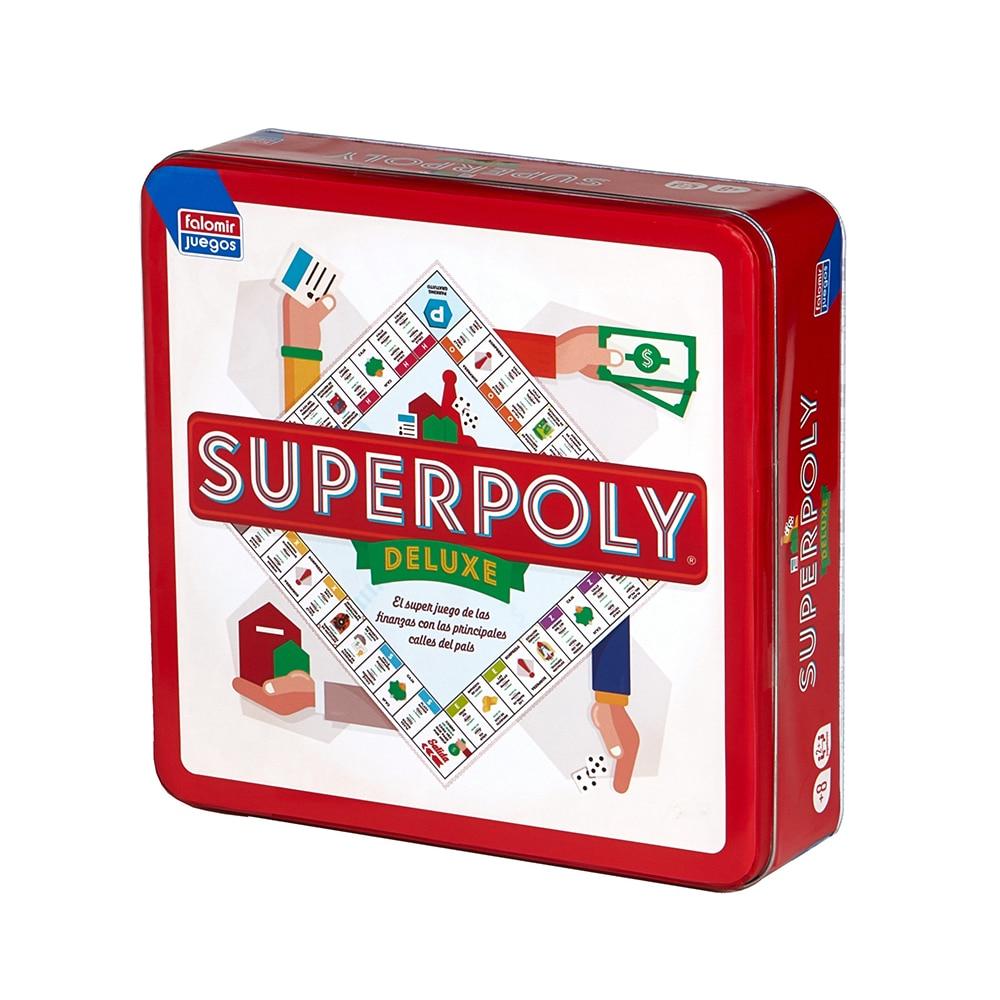 Falomir Juego De Mesa Superpoly Monopoly Deluxe 75 Anniversary Spanish