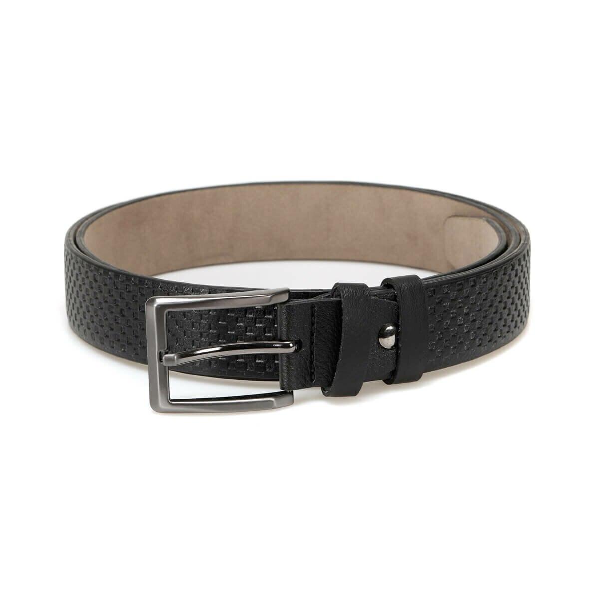 FLO MGVN3510 Black Male Belt Garamond
