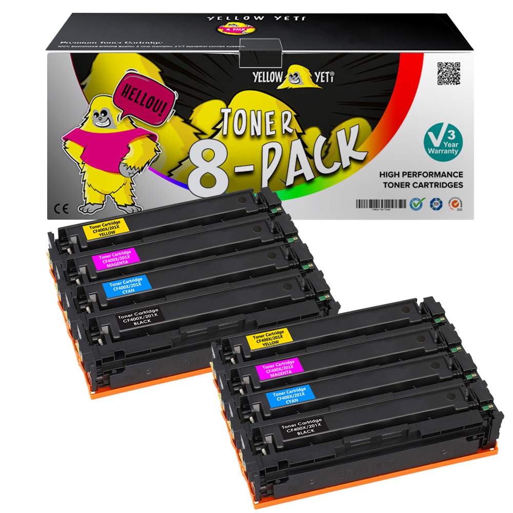Compatible <font><b>Toner</b></font> Cartridge 201 CF400A CF400X for <font><b>HP</b></font> Colour LaserJet Pro M252dw M252n MFP M274n MFP <font><b>M277dw</b></font> M277n MFP <font><b>Printer</b></font> image
