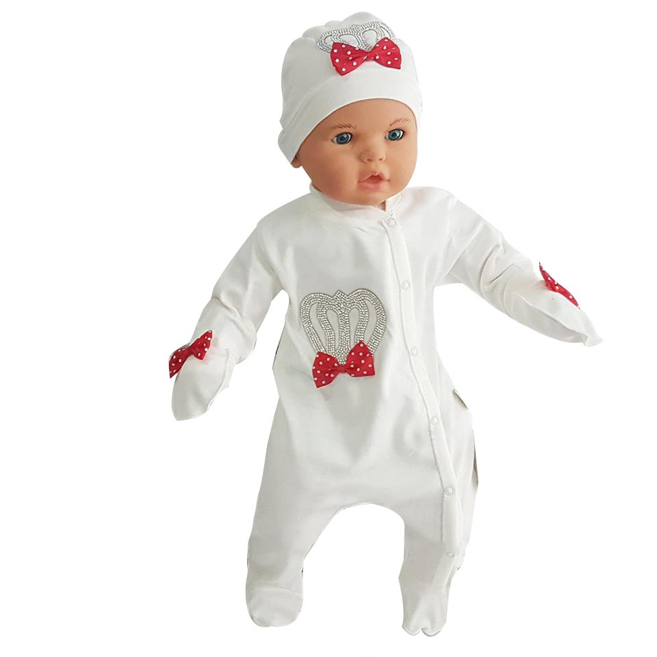 Lux Baby Jumpsuit Set Red