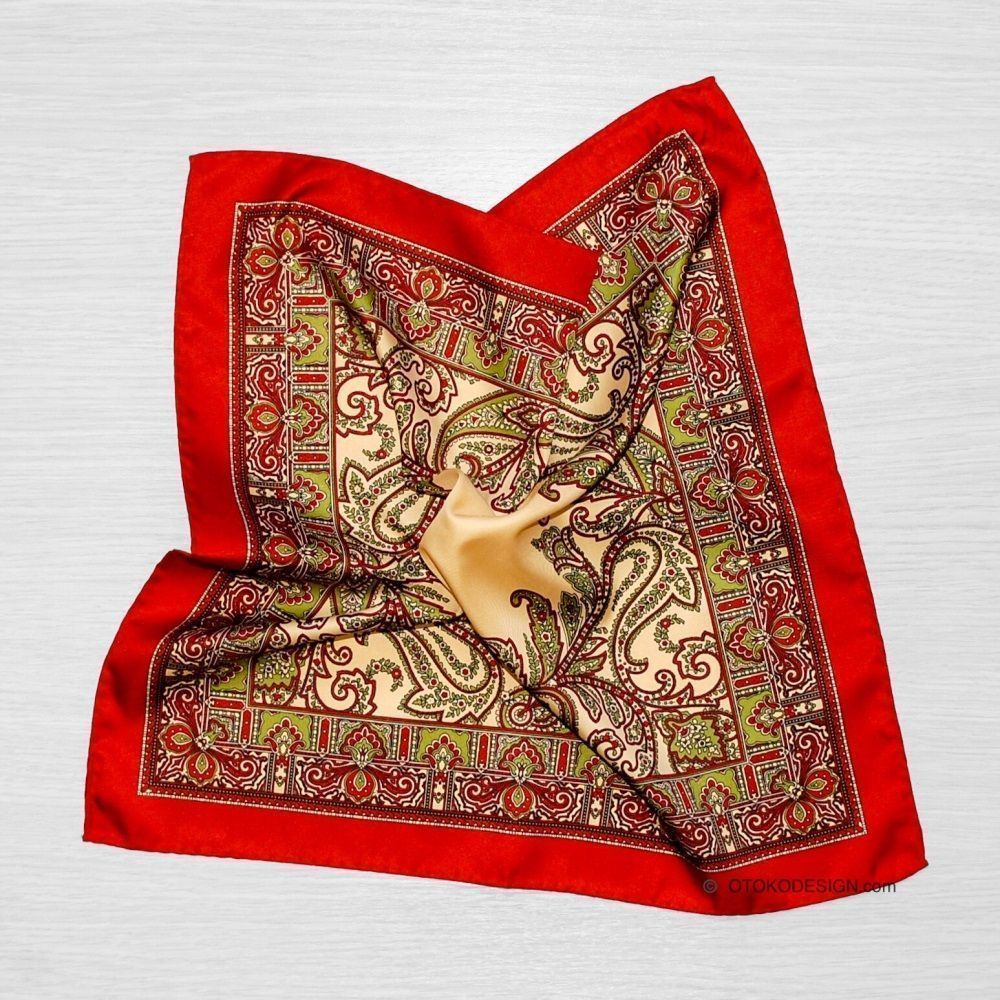Pocket Square Red With Texture (50927)