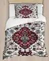 Else Red Blue Anatolia Vintage Design Ottoman 4 Piece 3D Print Cotton Satin Single Duvet Cover Bedding Set Pillow Case Bed Sheet