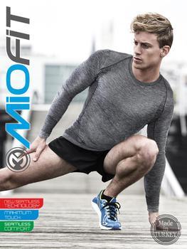 Szybkoschnący Fitness z długim rękawem trening siłowy trening bieganie piłka nożna koszule męskie-kompresja mięśni koszulka sportowa t-shirty dla mężczyzn tanie i dobre opinie Miofit Pasuje prawda na wymiar weź swój normalny rozmiar Szybkie suche