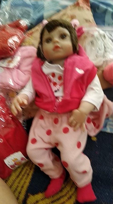 Bonecas Bebê Reborn Realista 100% Silicone 48cm photo review