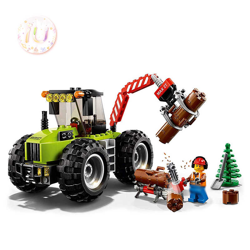 BELA 10870 City Series Forest Tractor Set Building Blocks Compatible 60181 Birthday Gifts Educational Toys For Children 180Pcs