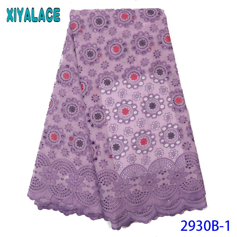Onion Afircan Lace Fabric,Dry Lace Fabrics High Quality, Latest Cotton Lace Fabric,Hollow Out Design For Dresses KS2930B-1