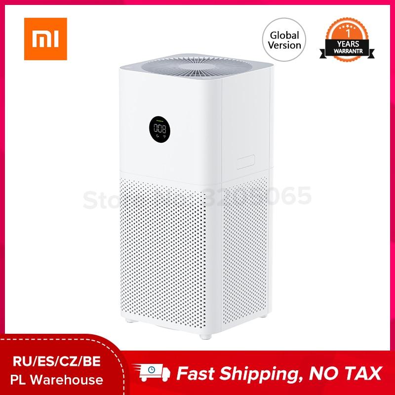 Глобальная версия Xiaomi Mijia Mi Air Purifier 3C цифровой светодиодный дисплей HEPA фильтр приложение AI голосовых умный контроль xiao Mi очиститель воздуха ...