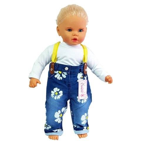 calcas de brim bebe suspensorios teste padrao da margarida