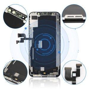 Image 4 - עבור iPhone X XR XS OEM LCD מגע מסך גמיש OLED סופר AMOLED תצוגת Digitizer עצרת שחור & לבן