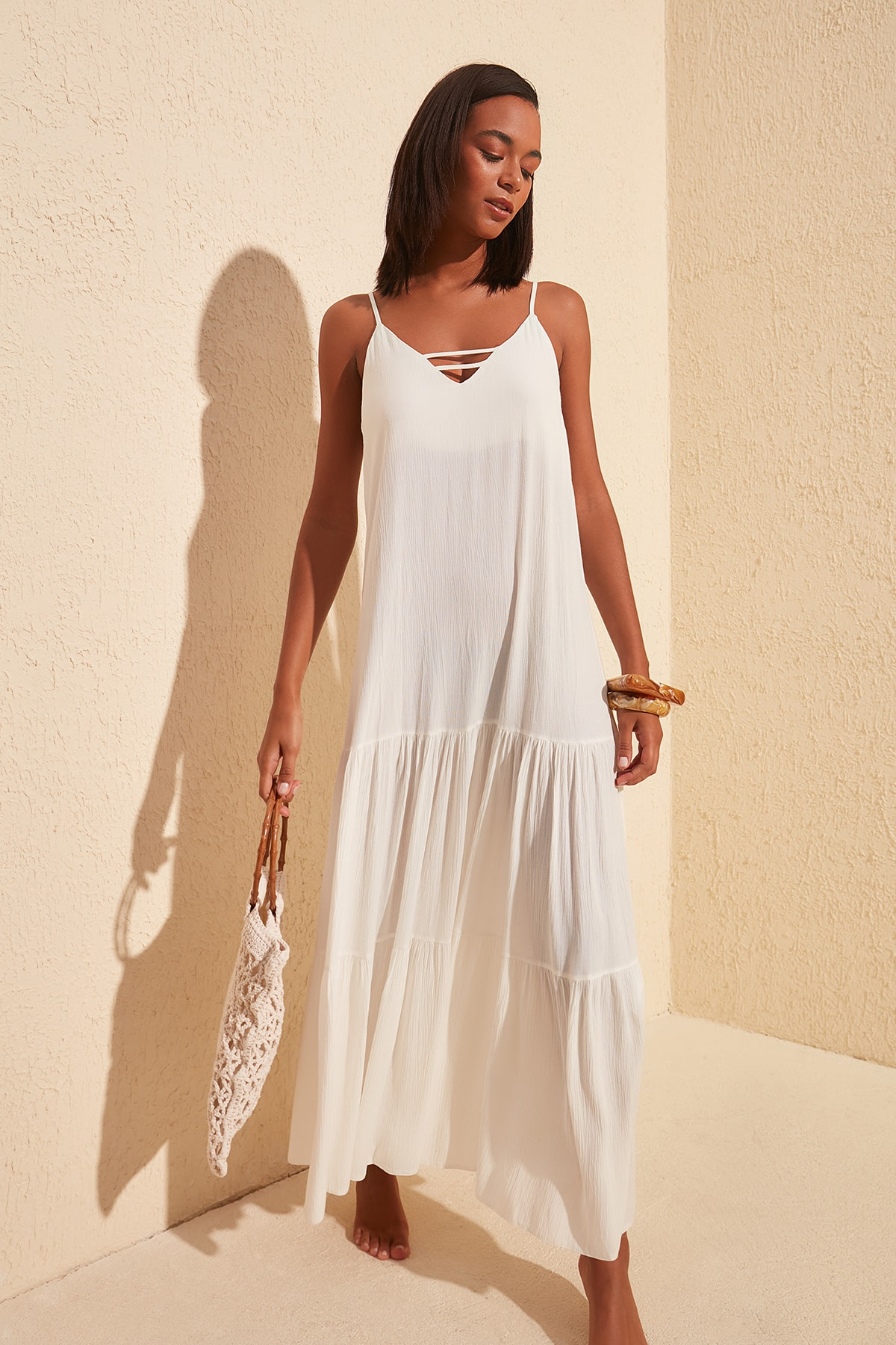 Trendyol Viscose Beach Dress TBESS20EL1817
