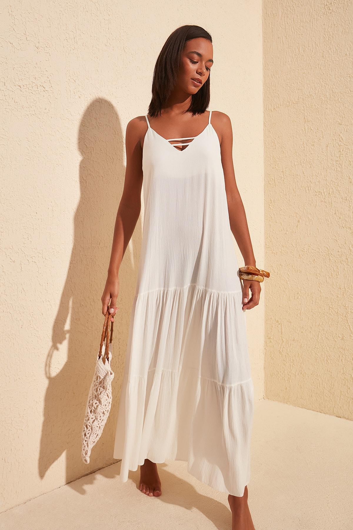 Trendyol Viscose Beach Dress TBESS20EL1817