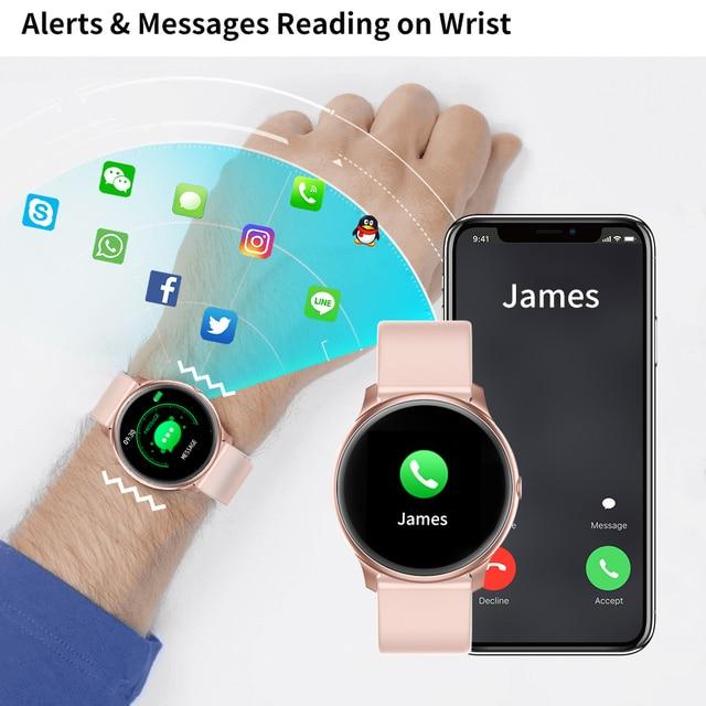 Γυναικείο έξυπνο ρολόι αδιάβροχο σπορ smartwatch για ios και android