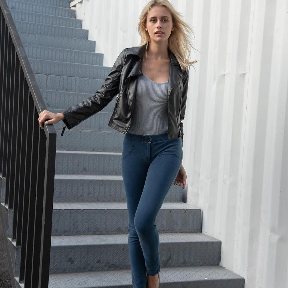 Melody Dark Blue Jeans Female Denim Pants Womens Jeans Super Comfortable Bottoms Feminino Skinny Pants For Women Trousers