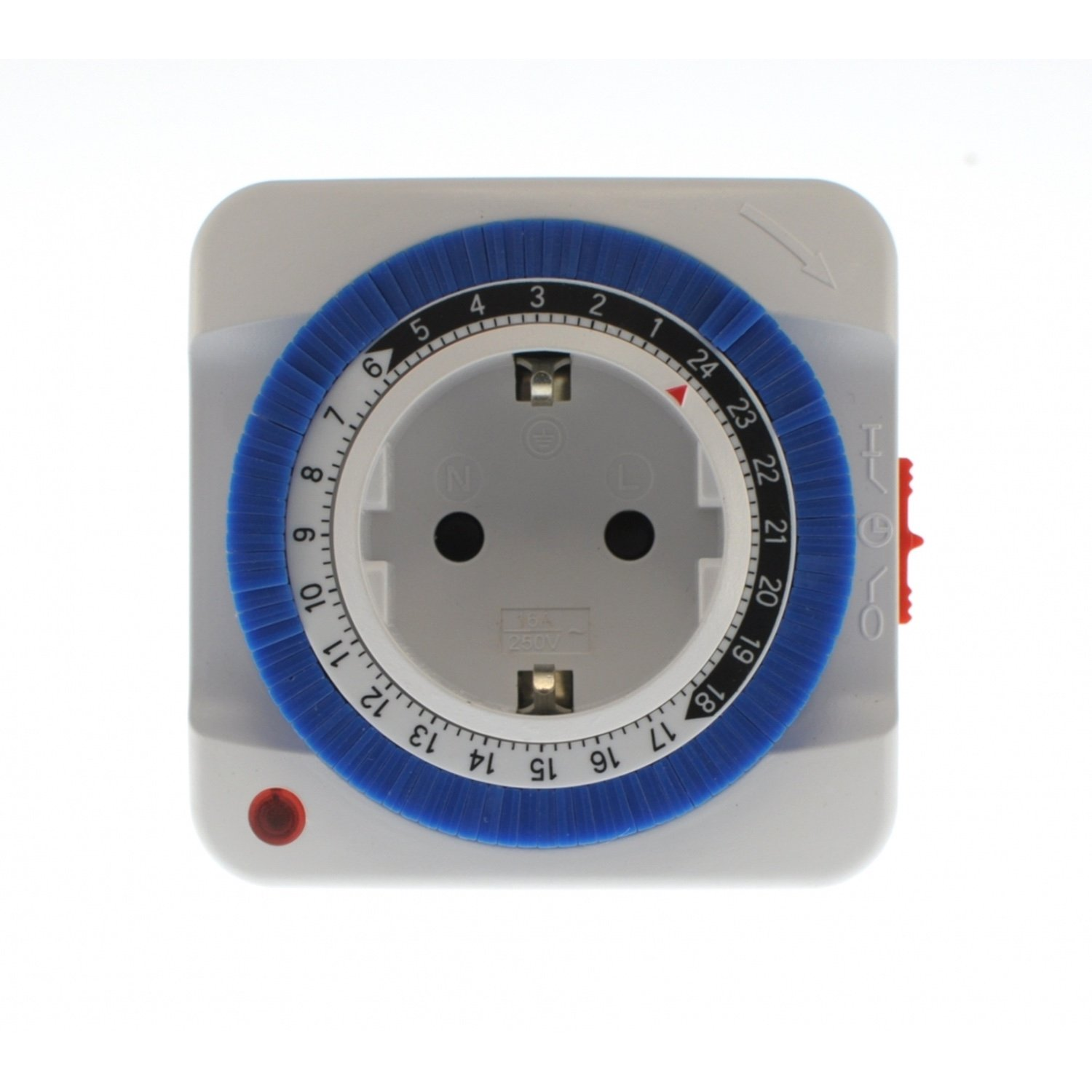 Timer Plug Programmer ANALOG Daily 24 Hours, 3500W Easy To Use