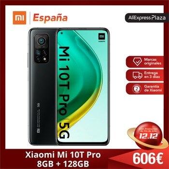 Перейти на Алиэкспресс и купить Xiaomi Mi 10T Pro (Memoria interna de 128 Гб RAM de 8 Гб 5G 6,67 дюймHDR10 + Qualcomm®Львиный зев™865 Android Nuevo Libre)