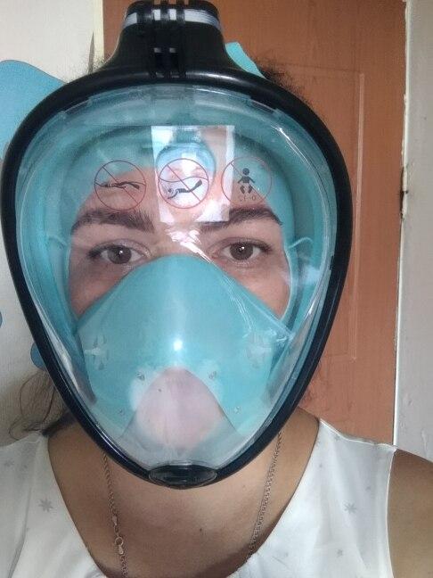 Máscaras de mergulho Máscara Underwater Máscara