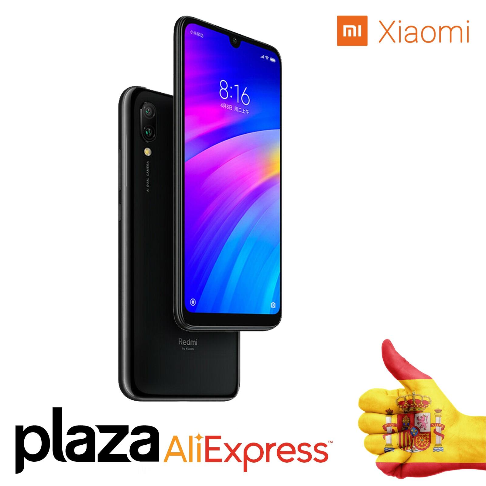 Version mondiale Xiao mi rouge mi 3 7 go dur 32 go dur Snapdragon 632 Octa Core 4000 mAh AI cher téléphone mobile déverrouiller 6,26
