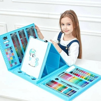 Suitcase of a young artist for drawing art set 208 items with easel a set of pans cmh усадьба 1 6 items
