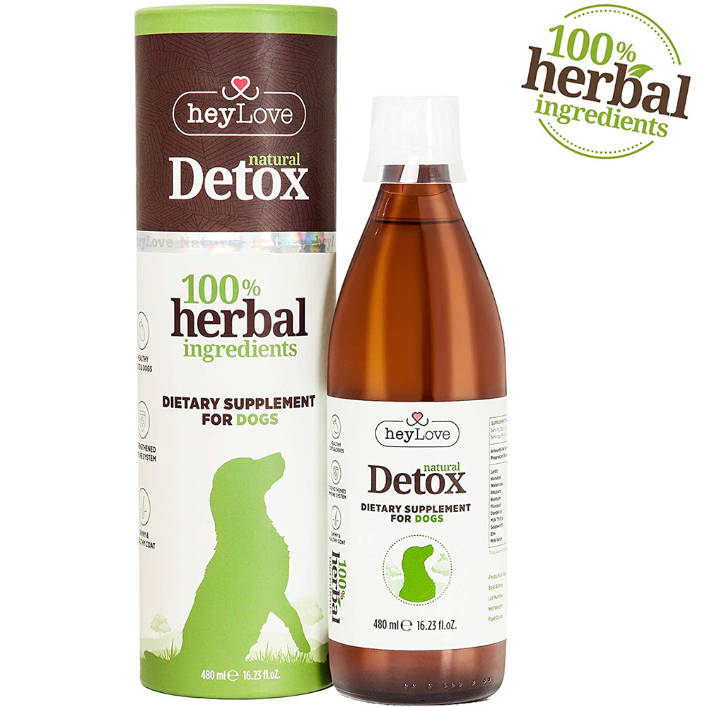 HeyLove Natural Detox Herbal Dietary Supplement For Dogs