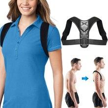 Регулируемый бандаж, поддерживающий пояс для спины, Корректор осанки, ключицы, позвоночника, спины, плеч, поясницы, коррекция осанки
