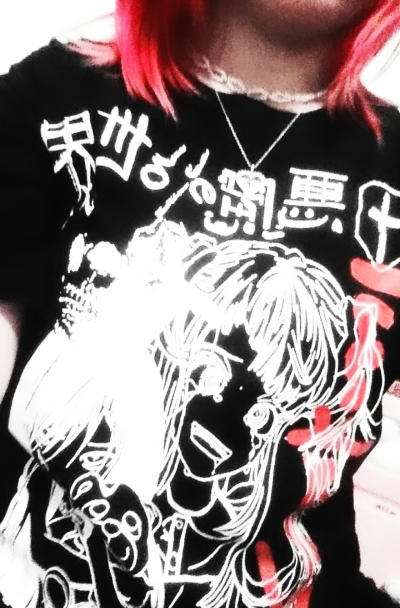 Harajuku T-shirts with Anime cartoon print photo review