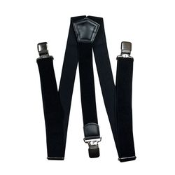Suspenders for large size trousers (4 cm, 3 clips, black) 55120