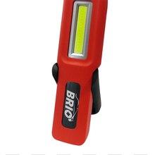 Brio, светодиодный перезаряжаемый рабочий светильник, ручной фонарь, 3W, COB, светодиодный светильник-вспышка, с двойным магнитом и Hookable, дизайн, портативный, 240 люмен, USB
