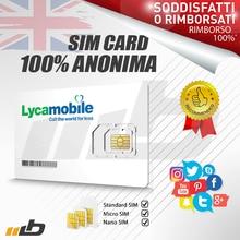 SIM-карта 100% LYCAMOBILE GSM 3G - 100% анонимный-100 Активный-топ конфиденциальность-TELEGRAM WHATSAPP-звонки анонимные