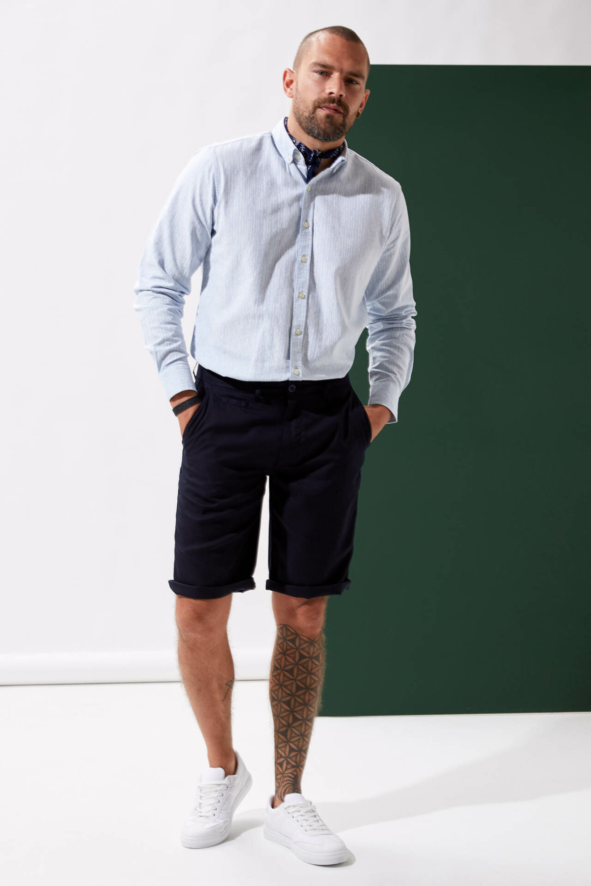 DeFacto Man Summer Casual Shorts Men Black Color Short Bottoms Male Loose Mid-waist Bermuda Shorts-L5726AZ19SM