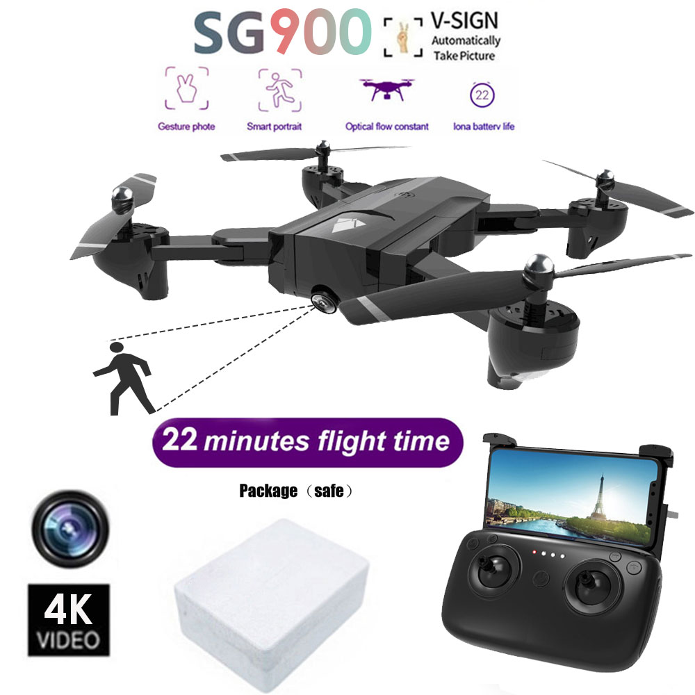 Toy 2 4G 4CH 6-Axis 4K UAV 2 Camera Drone Stable Gimbal 4096 3072P RC HD Kids Gift Aircraft 2 4G 4CH 6-Axis 4K Quadcopter
