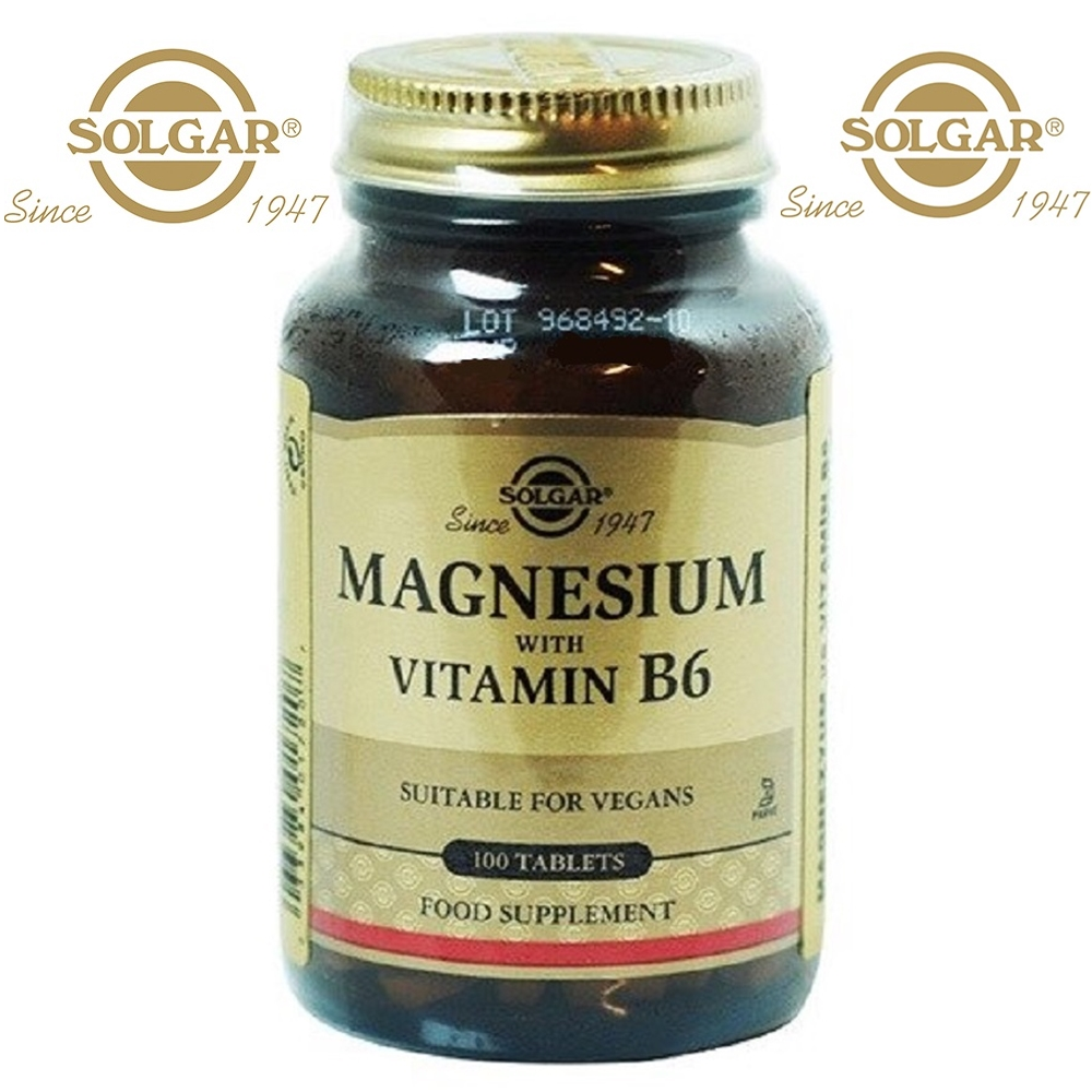Solgar Magnesium With Vitamin B6 B-6 100 Tablets Capsules