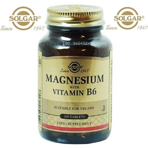 solgar magnesio com vitamina b6 b 6 100 comprimidos