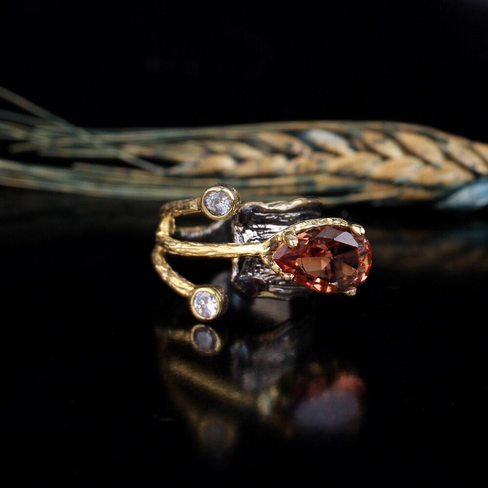 Woman Color Changing Zultanite Gemstone 925 Silver Diaspore Floral Handmade Ring
