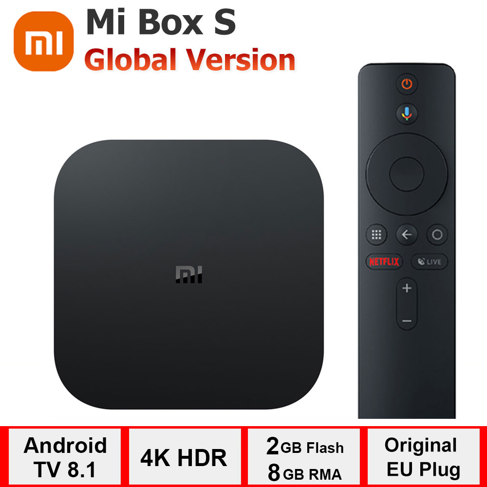 Xiaomi Mi Box S, reproductor multimedia de Streaming 4k Ultra HD, WIFI 2G, 8G, BT 4,2, Google Cast|Decodificadores| - AliExpress