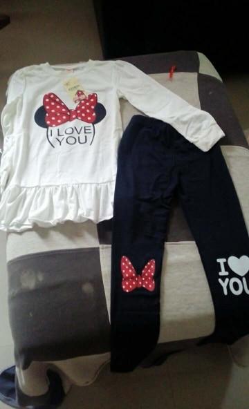 Conjuntos de roupas Roupas Minnie Criança
