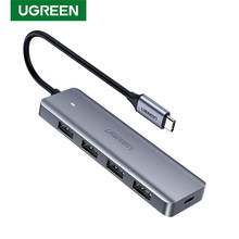 UGREEN-Hub con 4 puertos USB tipo C a USB 3,0, adaptador divisor para MacBook Pro, iPad Pro, Samsung, Galaxy Note 10, S10
