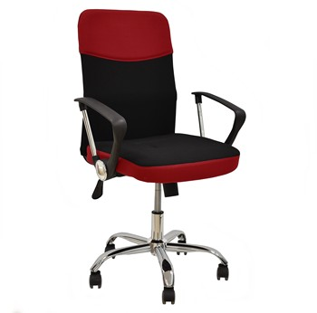 Office armchair TANGO, gas, tilt, fabric Black Network