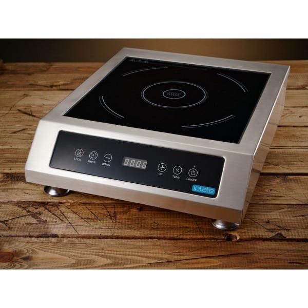 Настольная индукционная плита iPlate 3500 Alina (без импульсов, версия 01.2021, шаг 100 Вт, таймер 24 часа, нагрузка до 100 кг)