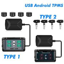 Android TPMS Sensor for Car Radio DVD Player Tire Pressure Monitoring System Tyre Alarm Internal External Sensor USB TMPS