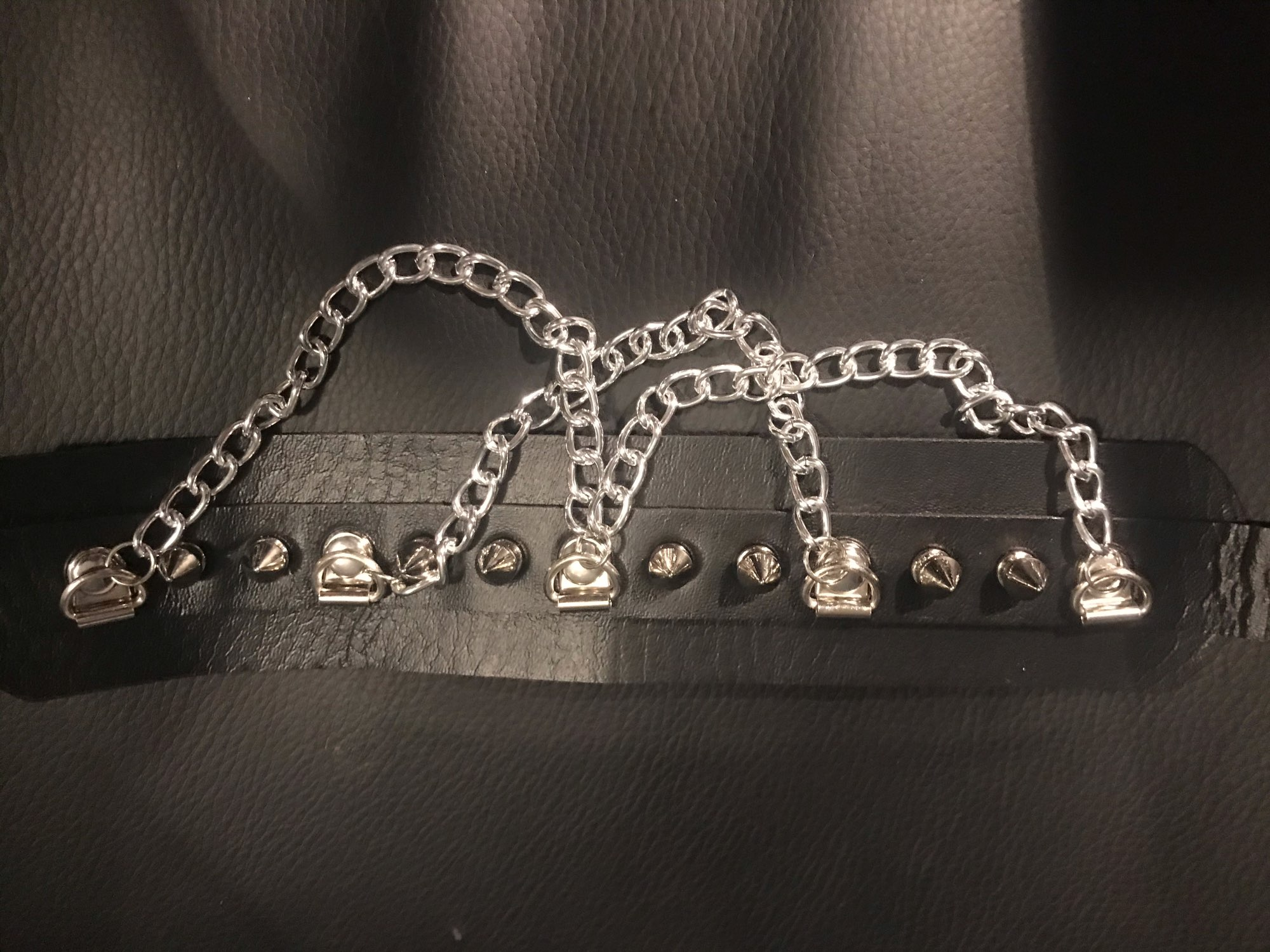 Choker With Spikes and Chains Pastel gothic E-girl photo review