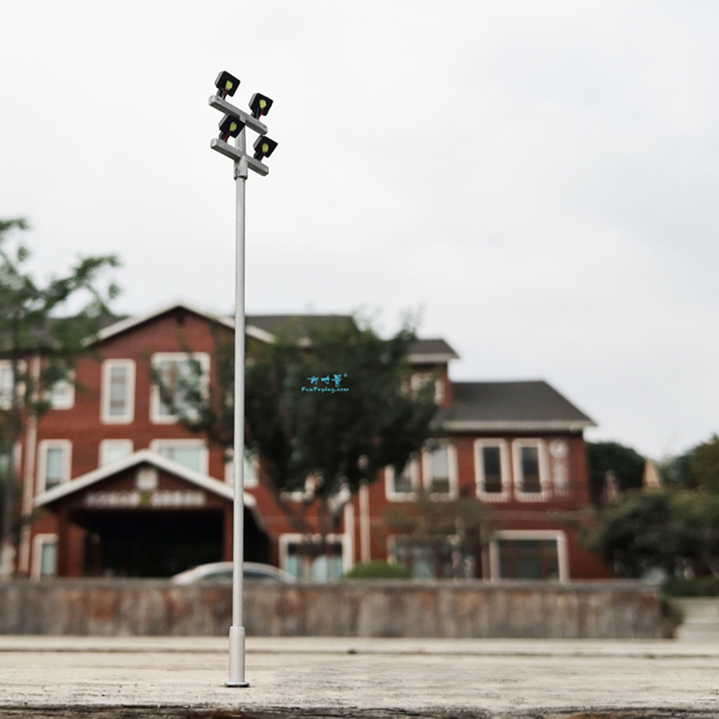 4 PCS HO Scale Model Lighting Tower,Model Street Lights Layout Lamppost Train/Garden/Playground/Stadium Overhead Lights