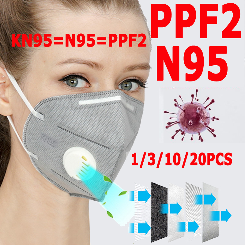 100pcs FFP3 Mask N95 Protective Safety Mascarillas KN95 Pm2.5 FFP2 With Respirator 99% Filtration Dust Pollution Send 24 Hour